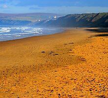 October Beach Walking : Redcar to Saltburn by Ian Alex Blease