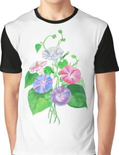 Morning Glory Isolated On White Graphic T-Shirt