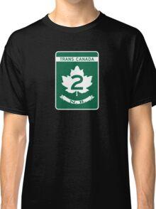 New Brunswick, Trans-Canada Highway Sign Classic T-Shirt