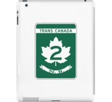 New Brunswick, Trans-Canada Highway Sign iPad Case/Skin