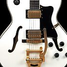 White Electric Guitar by CaseBase
