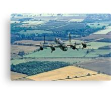 BBMF Lancaster PA474 over Lincolnshire Canvas Print