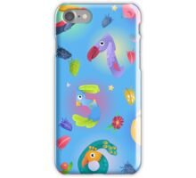 Pattern from numbers like birds in fairy style iPhone Case/Skin