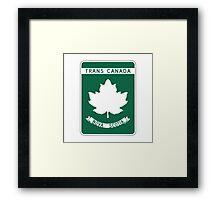 Nova Scotia, Trans-Canada Highway Sign Framed Print