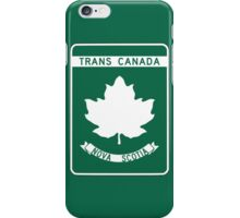 Nova Scotia, Trans-Canada Highway Sign iPhone Case/Skin
