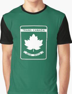 Nova Scotia, Trans-Canada Highway Sign Graphic T-Shirt