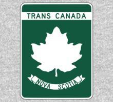 Nova Scotia, Trans-Canada Highway Sign One Piece - Long Sleeve
