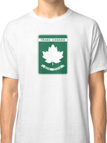 Nova Scotia, Trans-Canada Highway Sign Classic T-Shirt