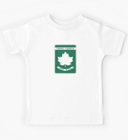 Nova Scotia, Trans-Canada Highway Sign Kids Tee