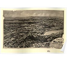 Panoramic Maps East Walpole Norfolk County Mass 1898 Poster