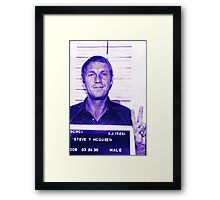 Mugshot Collection - Steve mcQueen Framed Print