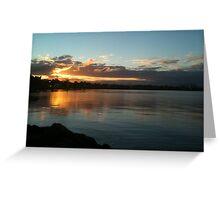 Golden nightfall Greeting Card