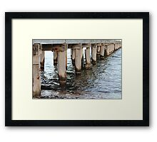 Water under the Pier Framed Print