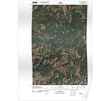 USGS Topo Map Washington State WA Aberdeen SE 20110502 TM Poster