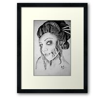 Beautiful Zombie Framed Print