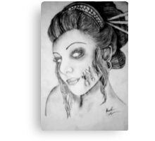 Beautiful Zombie Canvas Print