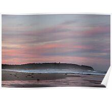 Caves Beach sunset Poster