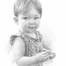 little girl w/little flower drawing by Mike Theuer