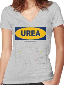 Urea: The Diagram takes the Piss Women's Fitted V-Neck T-Shirt
