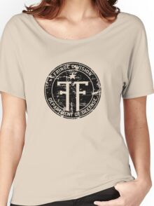 Fringe Division (dark print and stickers) Women's Relaxed Fit T-Shirt