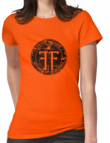 Fringe Division (dark print and stickers) Womens Fitted T-Shirt