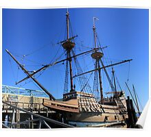 Mayflower sailing ship photography Poster