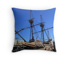Mayflower sailing ship photography Throw Pillow