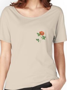 Vintage Red Rose Isolated on White Women's Relaxed Fit T-Shirt