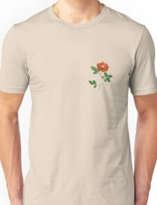 Vintage Red Rose Isolated on White Unisex T-Shirt