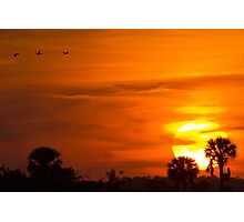 Sunset on Fire Photographic Print