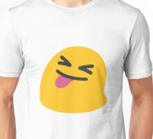 Face with stuck out tongue and tightly closed eyes emoji Unisex T-Shirt