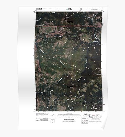 USGS Topo Map Washington State WA Seventeenmile Mountain 20110505 TM Poster