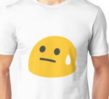 Face with cold sweat emoji Unisex T-Shirt