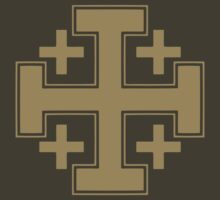 Jerusalem cross Tan by five5six