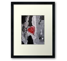 Heart Beats Abstract Framed Print