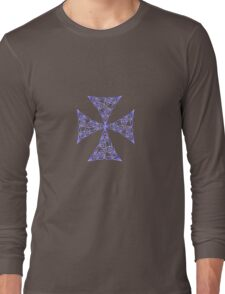 Lindisfarne St Johns Knot - Lilac Long Sleeve T-Shirt