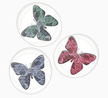 Butterfly Bubbles One Piece - Short Sleeve