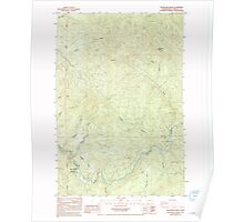 USGS Topo Map Washington State WA Woolford 244787 1985 24000 Poster
