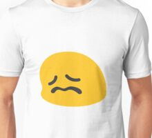 Confounded face emoji Unisex T-Shirt