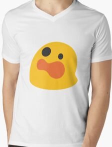 Astonished face emoji Mens V-Neck T-Shirt