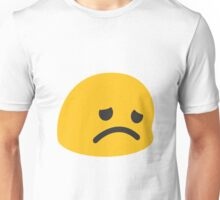 Disappointed face emoji Unisex T-Shirt