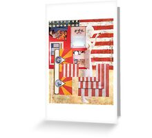The Great American Shaving Cabinet. Greeting Card
