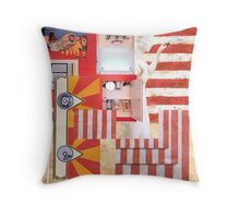 The Great American Shaving Cabinet. Throw Pillow