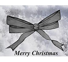 Christmas bow Photographic Print