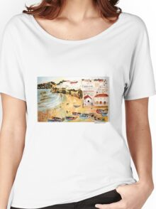 Portuguese town Women's Relaxed Fit T-Shirt