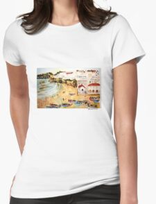 Portuguese town Womens Fitted T-Shirt