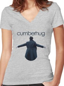 Free Cumberhugs! Women's Fitted V-Neck T-Shirt