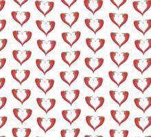 Red Chili pepper love hearts Sticker