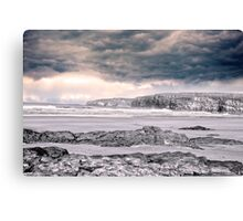 storm clouds with waves Canvas Print