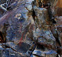 Colorful Eastern Oregon ancient rock art by Dave Sandersfeld
